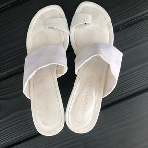 White Donald Pliner Sandals
